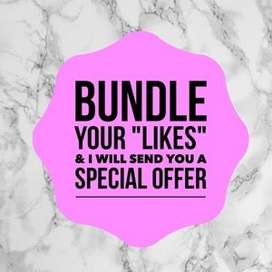 Bundle to receive discounts on items AND shipping!
